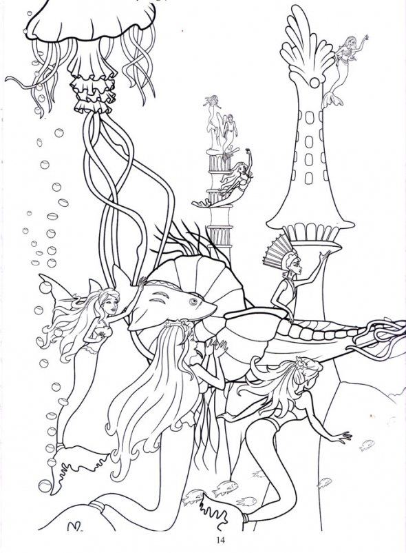 Barbie coloring pages barbie mermaid for Barbie mermaid coloring pages