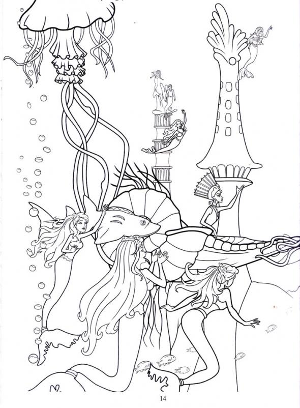 disney barbie mermaid coloring pages - photo#21