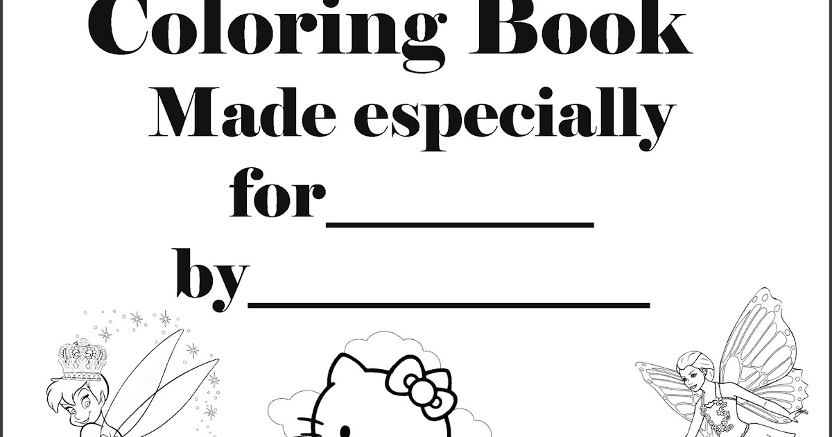 Interactive Magazine: PERSONALISED COLORING BOOK COVER