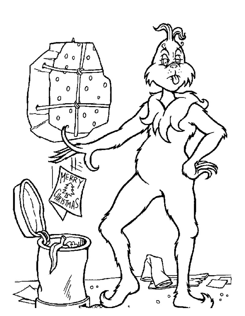 christmas full size coloring pages | XMAS COLORING PAGES