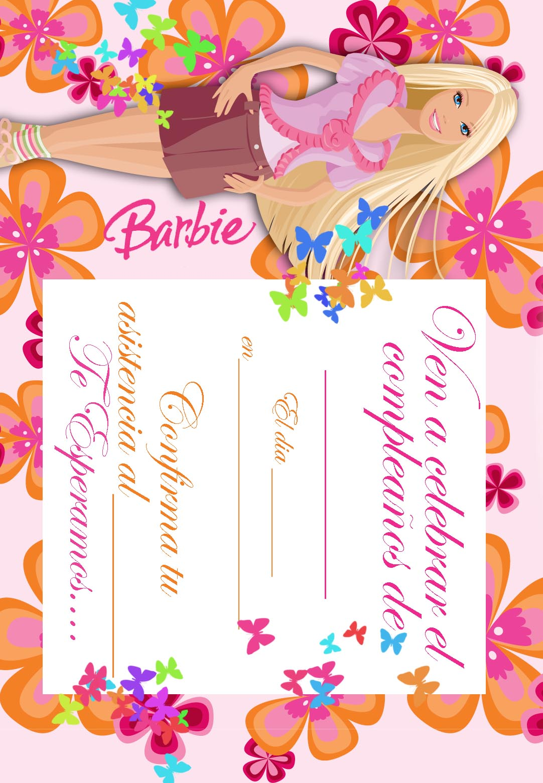 Barbie Coloring Pages Imprimir Gratuitamente Tarjetas De