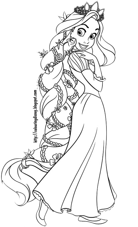 Hard Coloring Pages Printable Rapunzel Coloring Pages