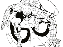 spiderman halloween coloring pages - anime couple easy to draw