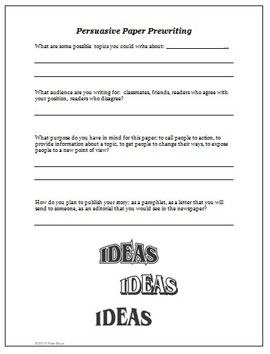 Lesson plan about persuasive essay