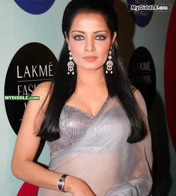 Celina Jaitley in A Sexy Transparent Saree image
