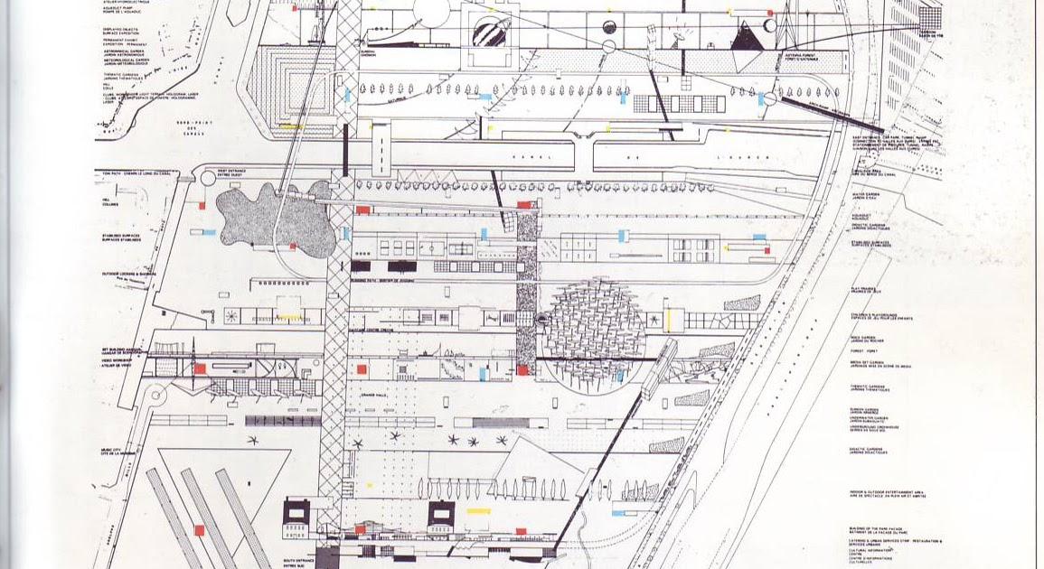 oma parc de la villette diagram 4l80e external wiring a spatial choreography of motion case study competition entry