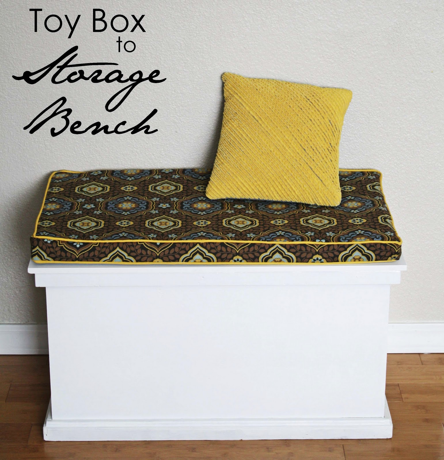 Relatively Running With Scissors: Toy Box Into A Bench HB47