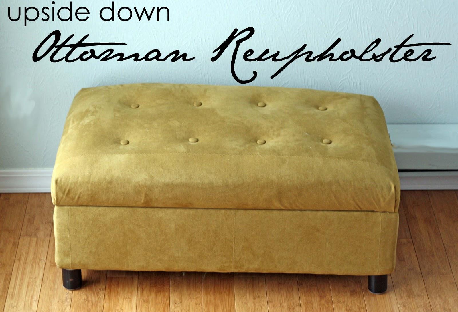 upholster an ottoman & Storage Ottoman Tutorial - Infarrantly Creative