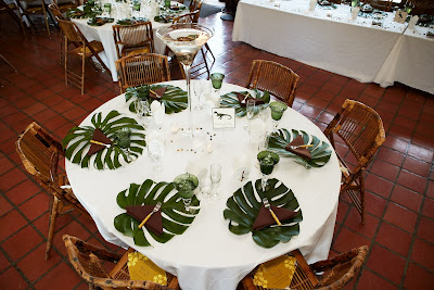 Yet Cost Effective Way To Bring The Jungle Juric Park Feeling Table Don T Forget Bamboo Flatware And Chairs From Aa Party Als