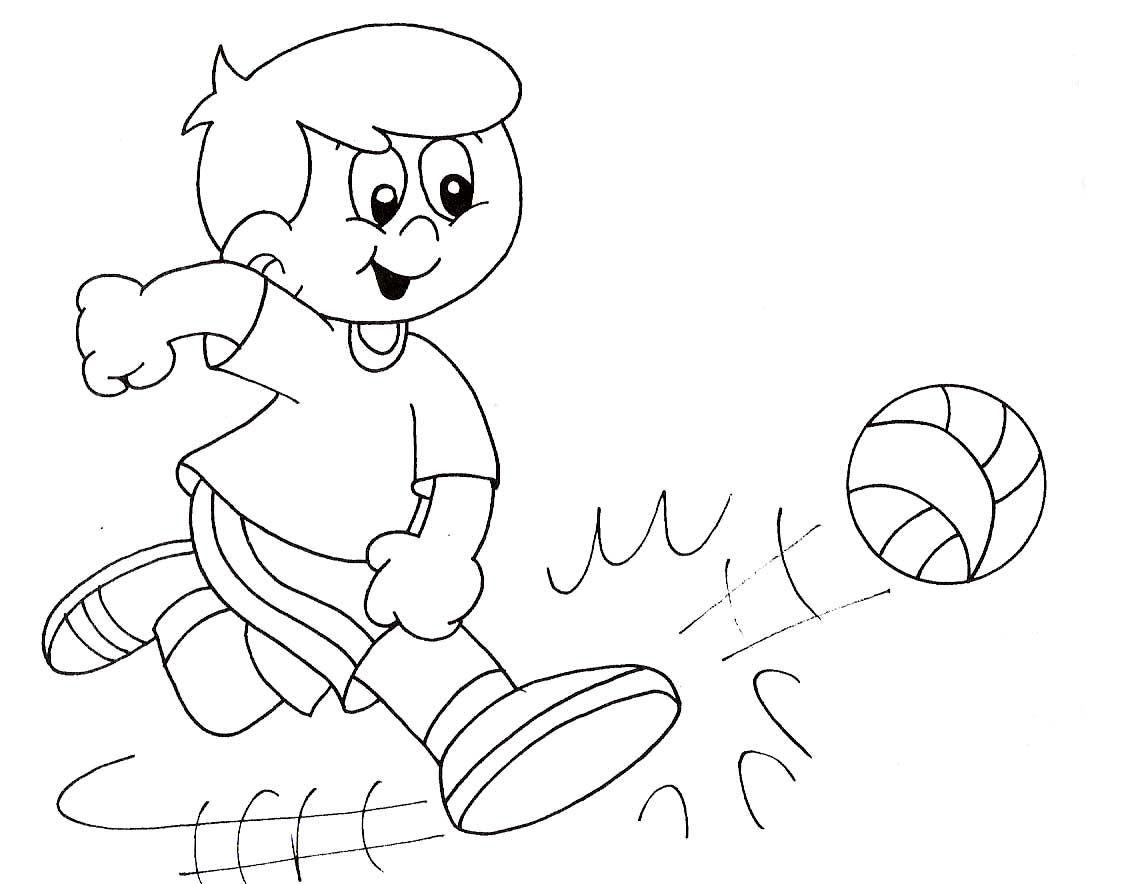 Jugar Futbol Dibujo