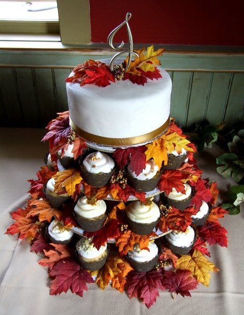 fall wedding cakes with cupcakes the cultural dish recent cakes 14171