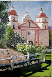 santa barbara mission painting