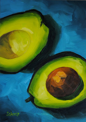 avocado still life by Sharon Schock