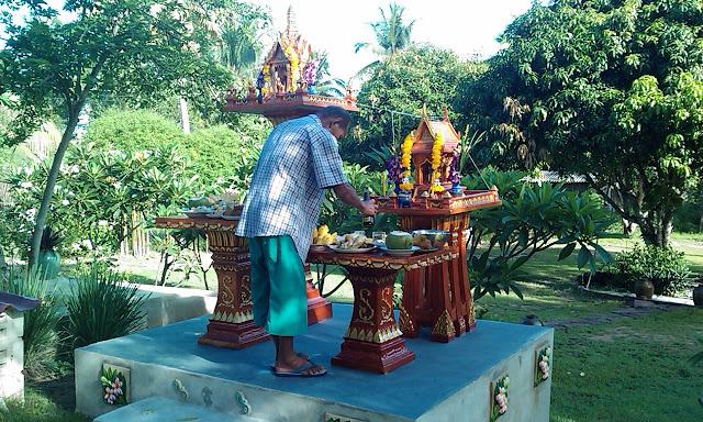A spirit house in Thailand
