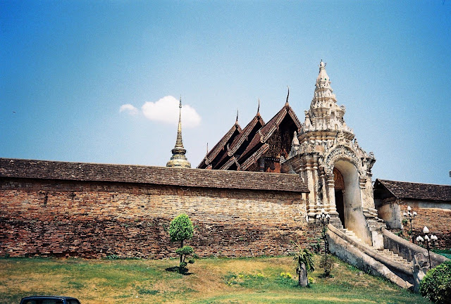 Lanna style temple in Lampang, North Thailand