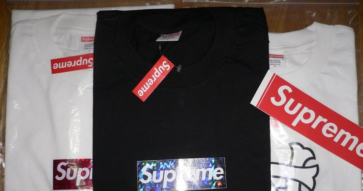 Supreme: Supreme Holographic Box Logo & NS loge Tee