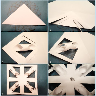 Easy 3D Origami Paper Snowflake Tutorial - YouTube | 400x400