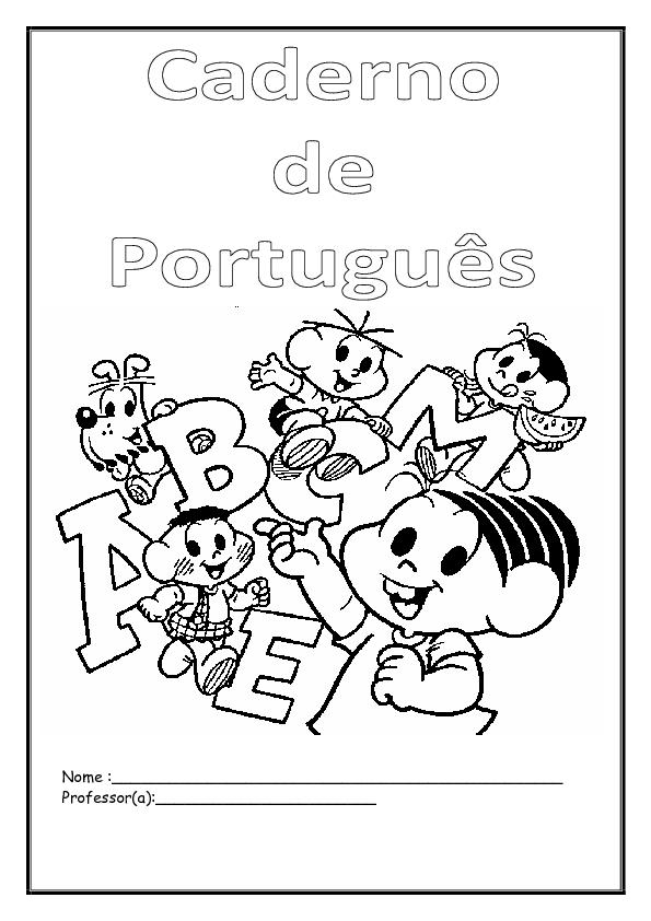 Capas De Cadernos Infantis Para Imprimir Qdb