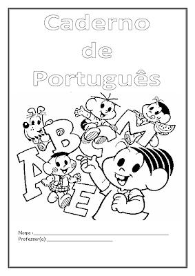 Capa Para Caderno De Portugues Para Imprimir Alfabetizar E Arte