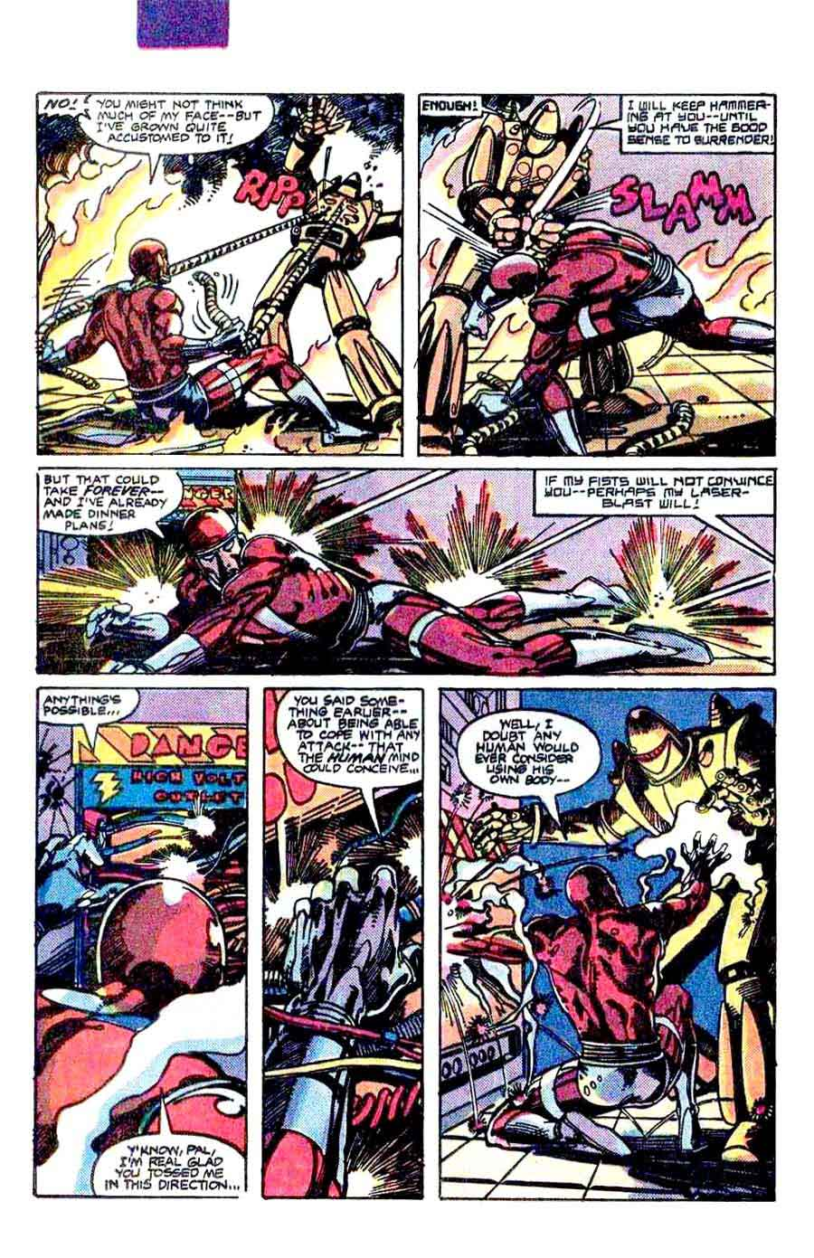 Machine Man v2 #1 marvel 1980s comic book page art by Barry Windsor Smith