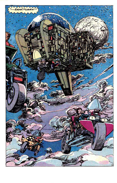 Machine Man v2 #3 marvel 1980s comic book page art by Barry Windsor Smith