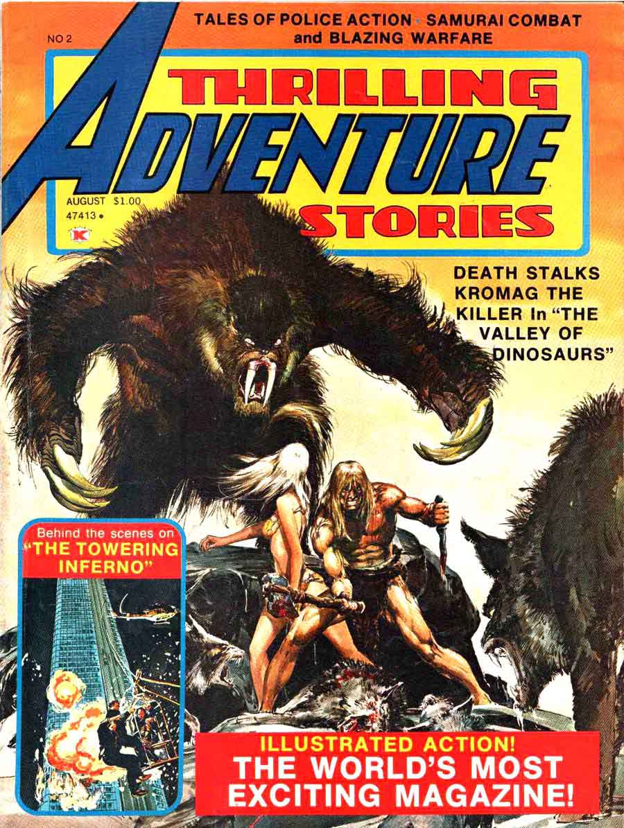 Thrilling Adventure Stories #2 comic book magazine cover by Neal Adams