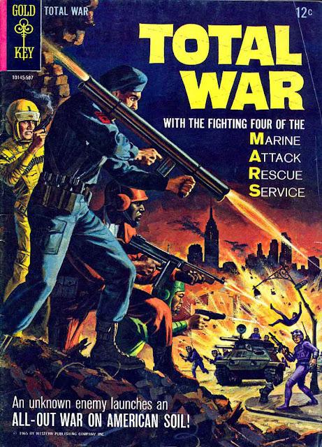 Total War v1 #1, 1965 silver age comic book cover - 1st M.A.R.S. Patrol