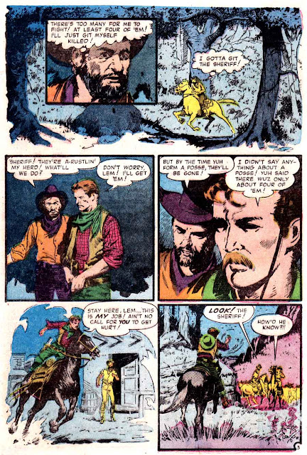 Annie Oakley v1 #9 - Al Williamson atlas western golden age comic book page art