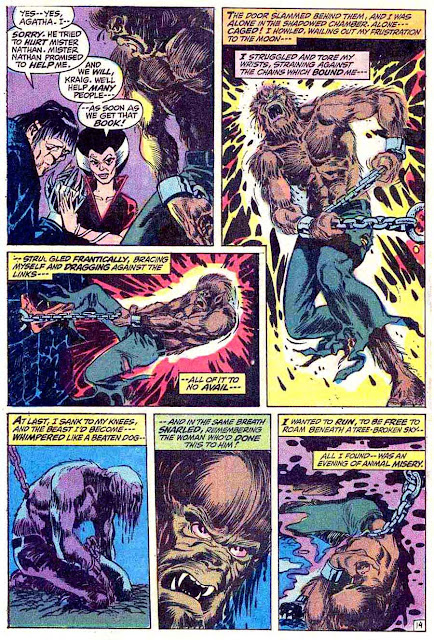 Marvel Spotlight v1 #3 Werewolf by Night marvel comic book page art by Mike Ploog