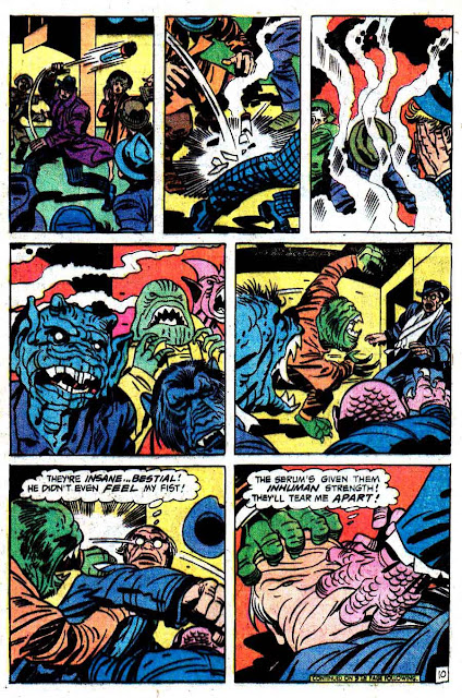 Justice Inc. v1 #3 dc bronze age comic book page art by Jack Kirby