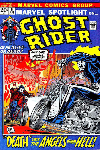 Marvel Spotlight v1 #6 Ghost Rider marvel comic book cover art by Mike Ploog