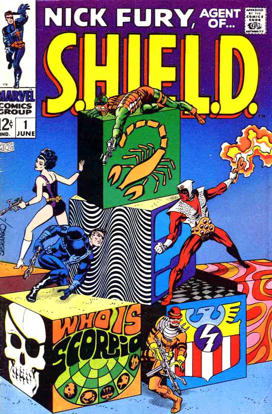 Nick Fury Agent of Shield v1 #1 1960s marvel comic book cover art by Jim Steranko