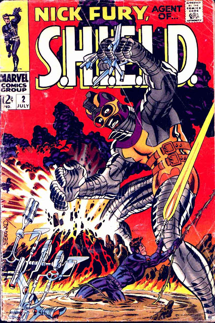 Nick Fury Agent of Shield v1 #2 1960s marvel comic book cover art by Jim Steranko