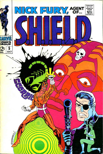 Nick Fury Agent of Shield v1 #5 1960s marvel comic book cover art by Jim Steranko