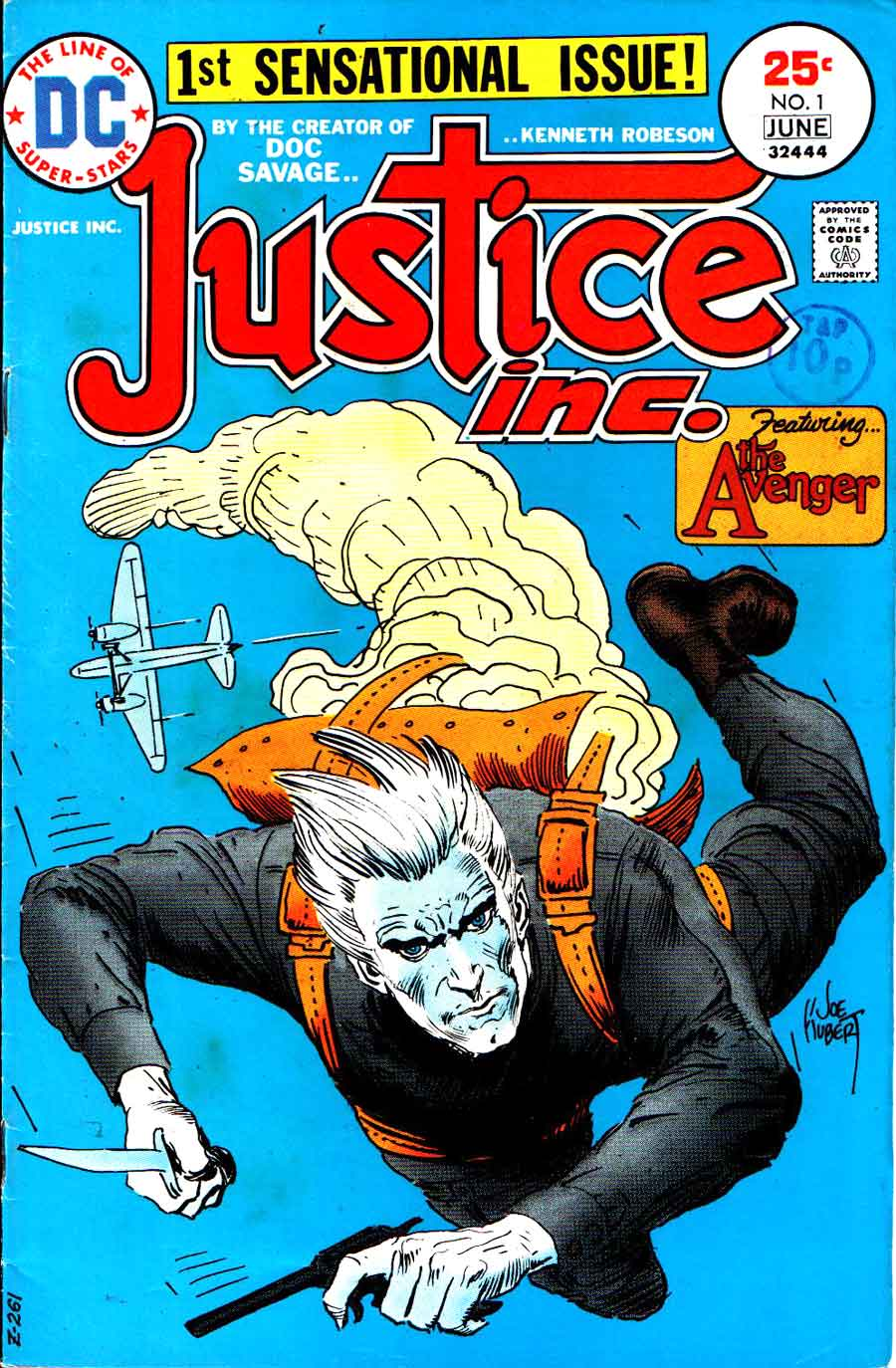 Justice Inc. v1 #1 dc bronze age comic book cover art by Joe Kubert
