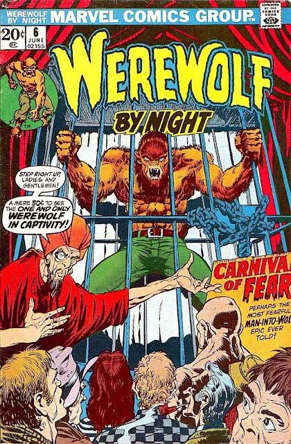 Werewolf by Night v1 #6 1970s marvel comic book cover art by Mike Ploog