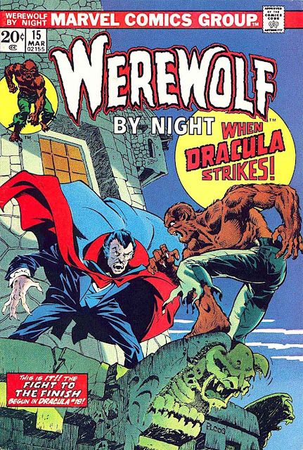 Werewolf by Night v1 #15 1970s marvel comic book cover art by Mike Ploog