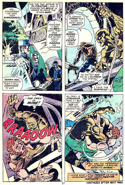 Werewolf by Night v1 #16 1970s marvel comic book page art by Mike Ploog