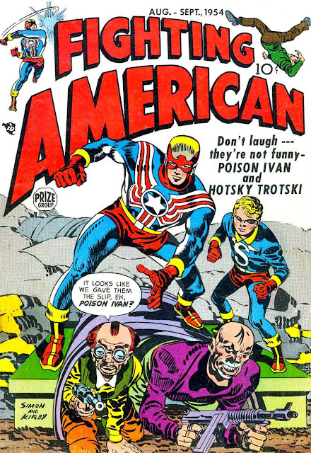 Fighting American v1 #3 harvey comic book cover art by Jack Kirby