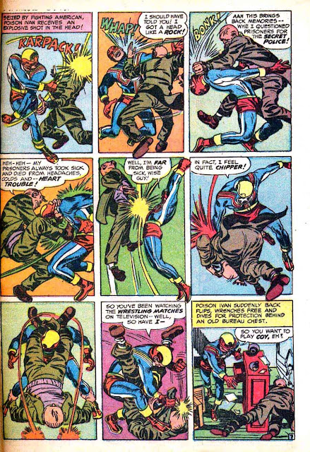 Fighting American v1 #3 harvey comic book page art by Jack Kirby