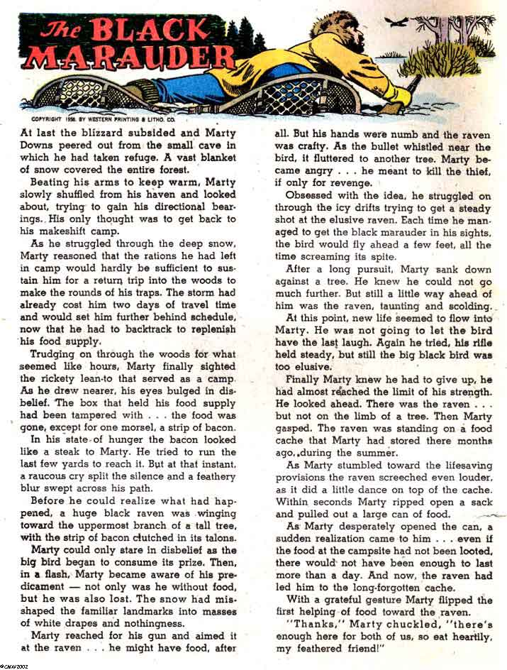 Flying A's Range Rider v1 #24 dell western comic book page art by Russ Manning