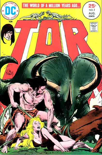 Tor v2 #2 dc bronze age comic book cover art by Joe Kubert