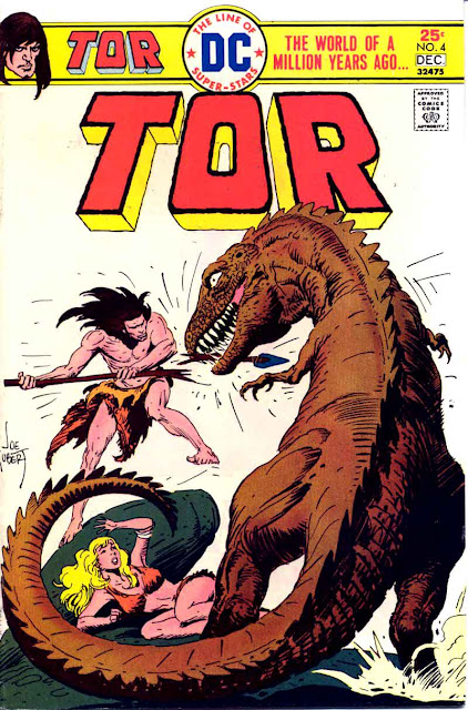 Tor v2 #4 dc bronze age comic book cover art by Joe Kubert