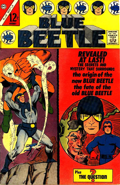 Blue Beetle v5 #2 charlton 1960s silver age comic book cover art by Steve Ditko