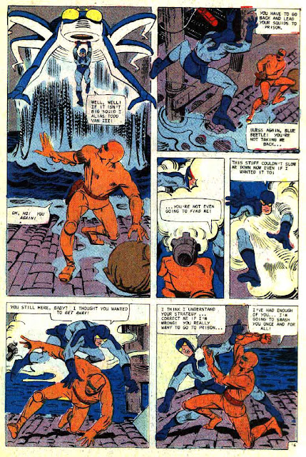 Blue Beetle v5 #1 charlton 1960s silver age comic book page art by Steve Ditko
