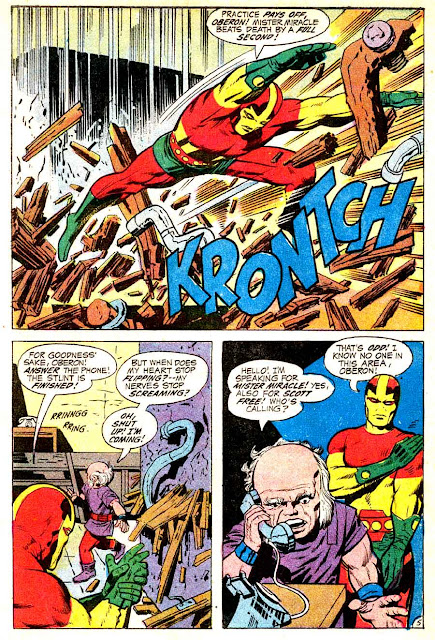 Mister Miracle v1 #3 dc 1970s bronze age comic book page art by Jack Kirby