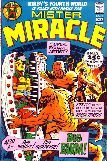 Mister Miracle v1 #4 dc 1970s bronze age comic book cover art by Jack Kirby