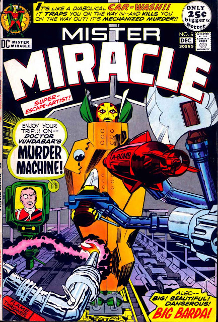 Mister Miracle v1 #5 dc 1970s bronze age comic book cover art by Jack Kirby