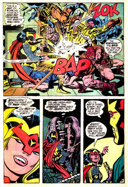 Mister Miracle v1 #4 dc 1970s bronze age comic book page art by Jack Kirby