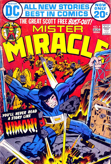 Mister Miracle v1 #9 dc 1970s bronze age comic book cover art by Jack Kirby